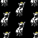 King Porkchop Puppy Dog - White, No Text by RiftwingDesigns