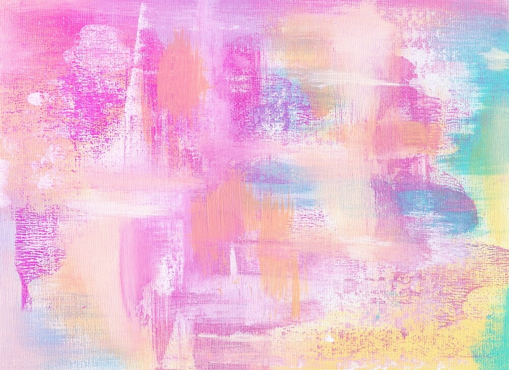 Abstract Acrylic Pastel Colors By Annelouw Redbubble