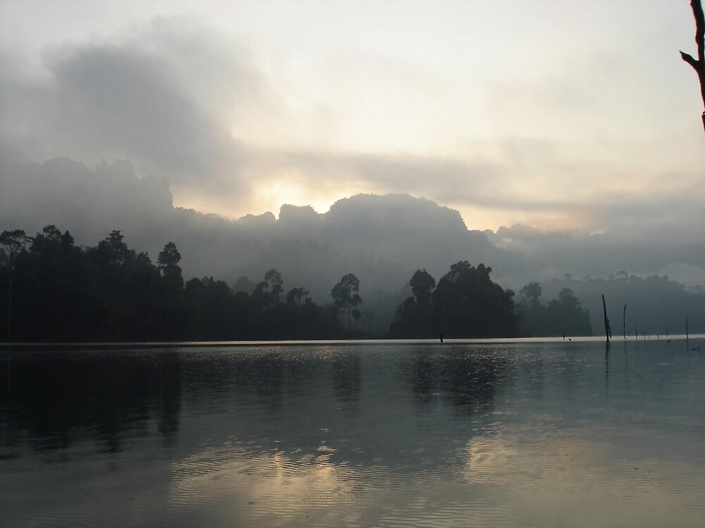 Mystical Sunrise in Floating Village Thailand by BRIGHTEY84