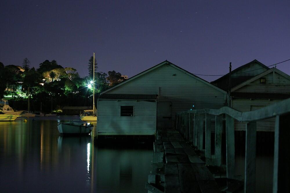 dark boathouse by misspetepie