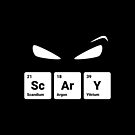 Scary! Halloween Eyes Periodic Table Elements Scandium Argon Yttrium by science-gifts