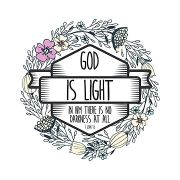 Christian Quote - God is light In him there is no darkness at all by ChristianStore