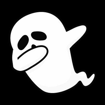 Dabbing Ghost Funny Halloween Boo  by allsortsmarket