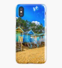 Coloured Beach Huts 2 iPhone Case/Skin