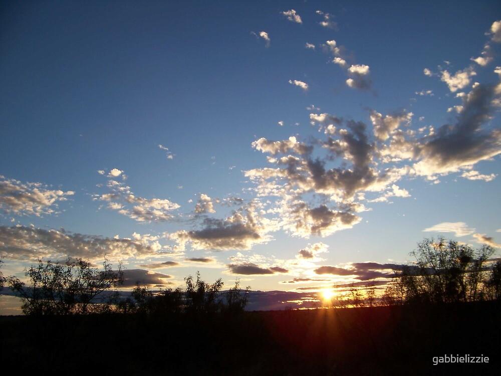 sunset by gabbielizzie