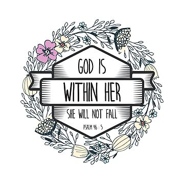 Christian Quote - God is within her she will not fail by ChristianStore