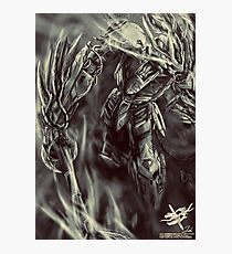 Barbatos Iron Blooded Orphans (Grey Scale) Photographic Print