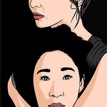 Killing Eve Pop Art Style Print by leeseylee