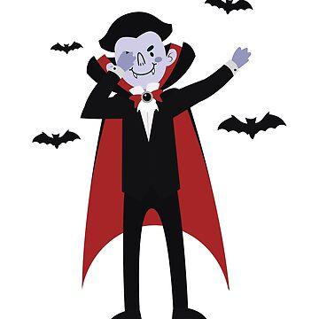Dabbing Vampire Horror Funny Halloween Party  by allsortsmarket