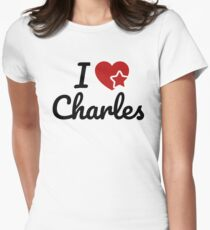 I love Charles, I heart Charly Soul-Mate Women's Fitted T-Shirt