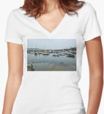 Lyme Regis Today Women's Fitted V-Neck T-Shirt