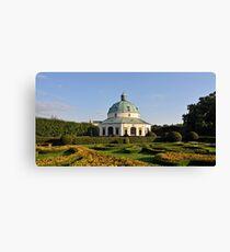 Baroque Flower Garden, Kromeriz, Czech Republic  Canvas Print