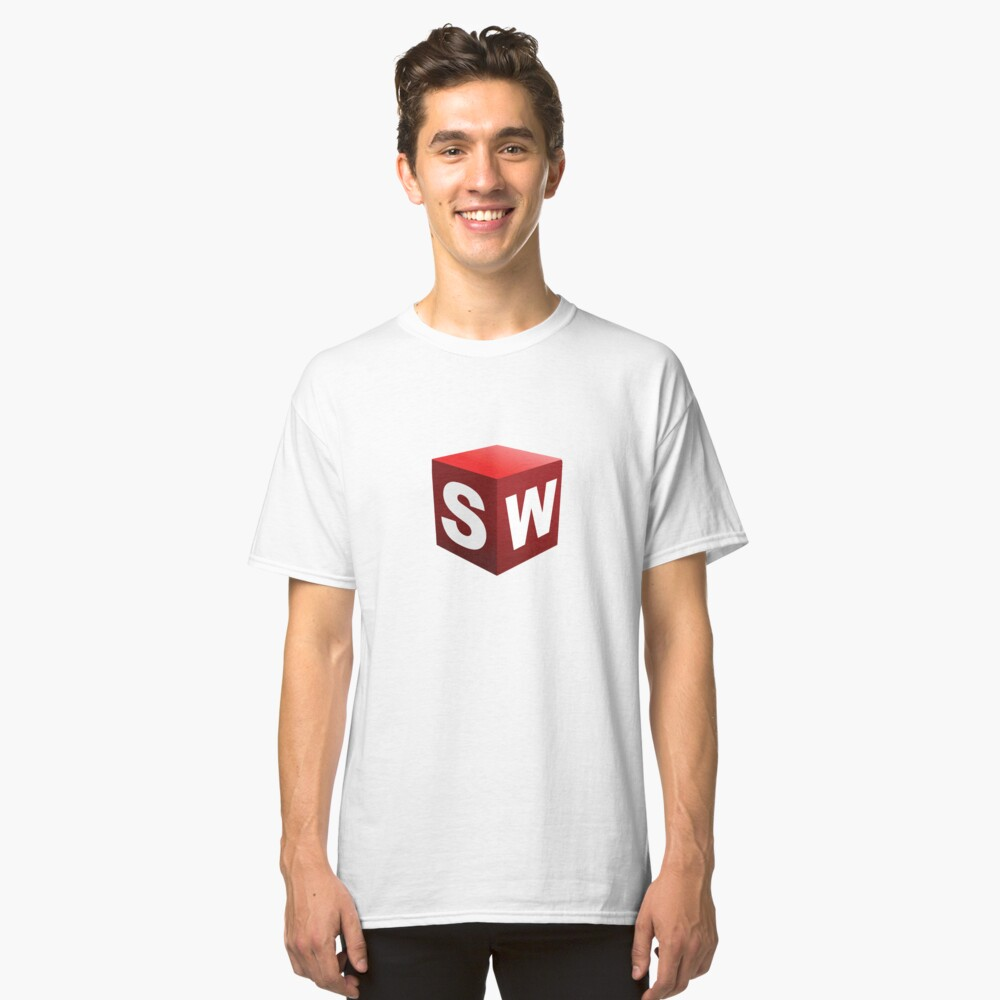 3D Cad/Cam/Cae Solid Works Designer Classic T-Shirt Front
