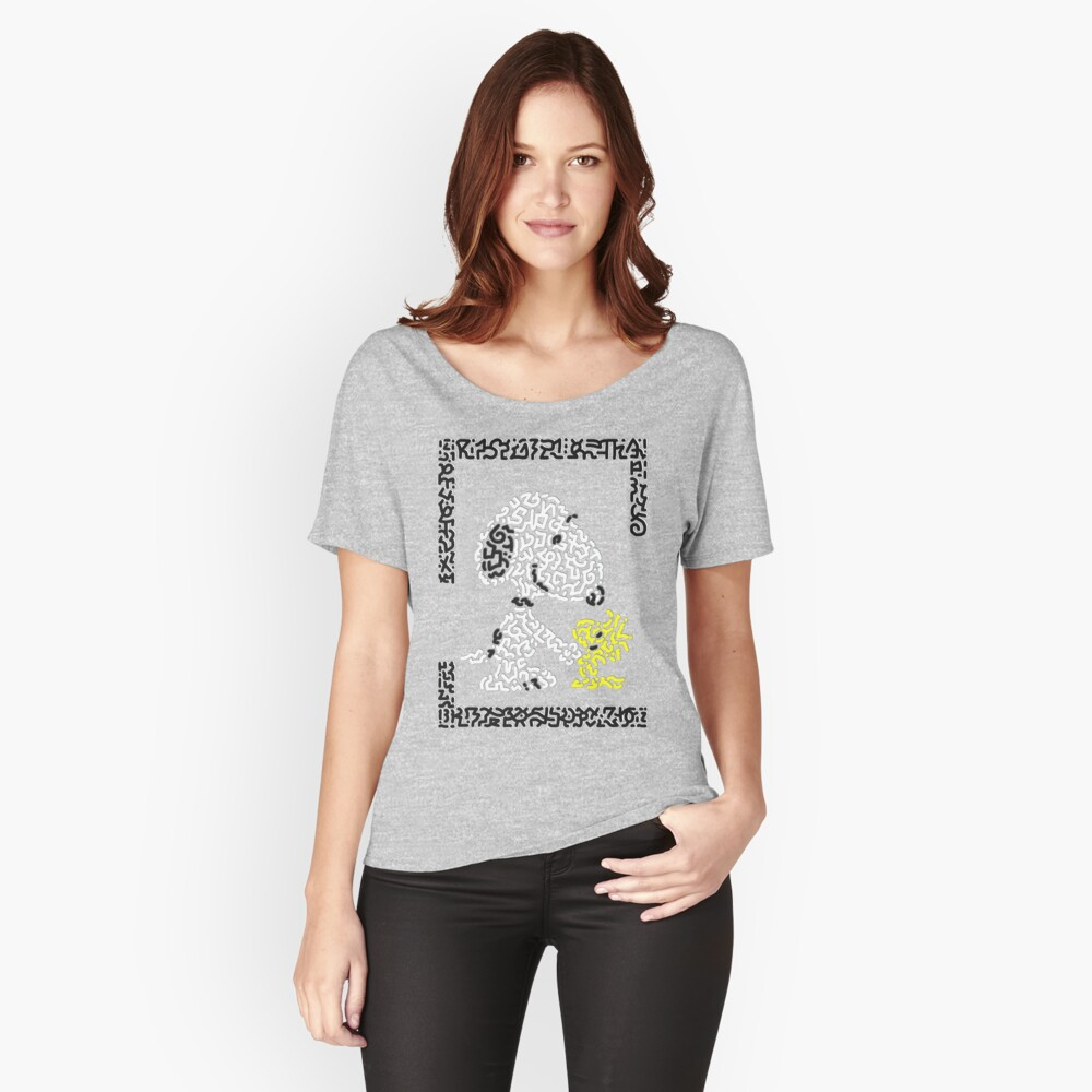 Snoopy & Woodstock Women's Relaxed Fit T-Shirt Front