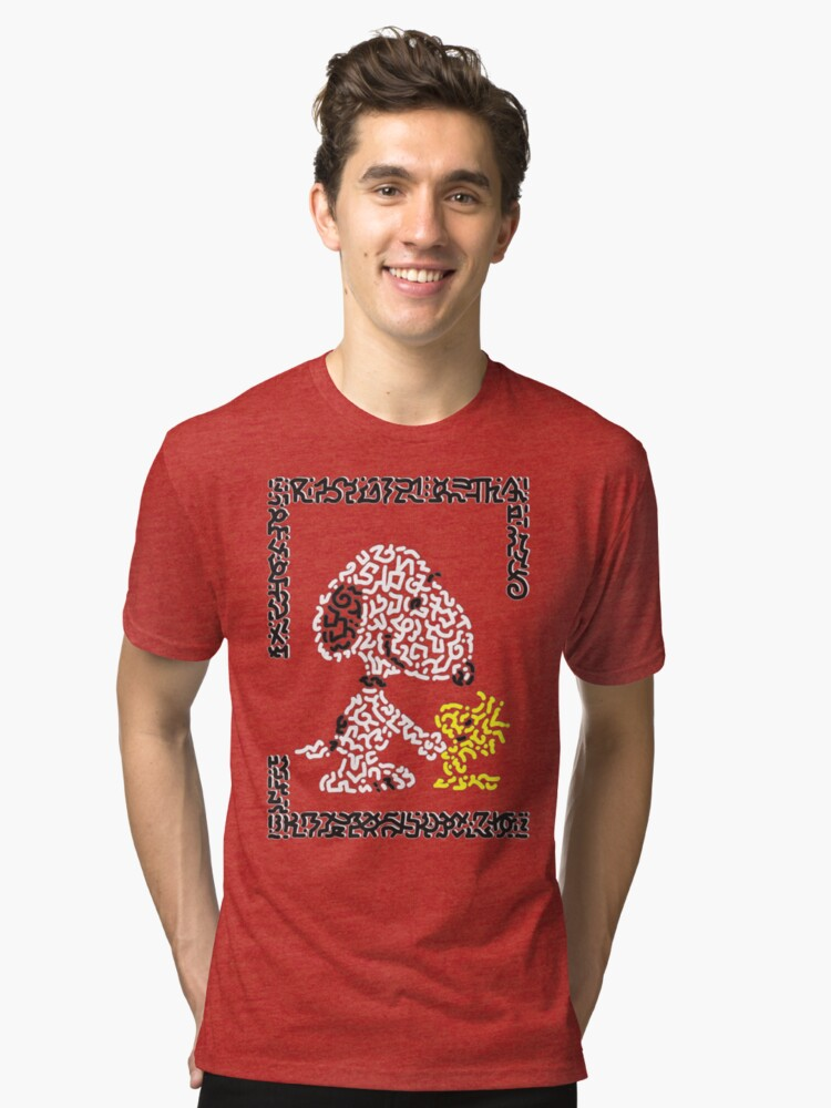 Snoopy & Woodstock Tri-blend T-Shirt Front