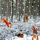 Woodland Creatures and Falling Snow by EuniceWilkie