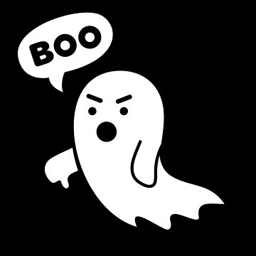 Disapproving Ghost heckling Boo! with thumbs down by mrhighsky