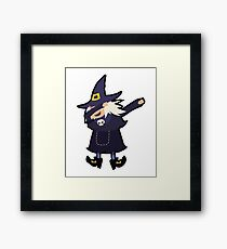 Dabbing Witch Costumes Wizards Broomstick Witch Dance  Framed Print