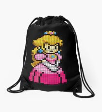 8 Bit Princess Peach Drawstring Bag