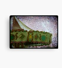 grunge carrousel Canvas Print