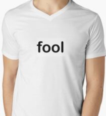 fool Mens V-Neck T-Shirt