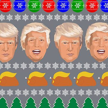 Donald Trump Ugly Christmas Sweater Xmas Party Jumper Gift Idea by lukeyr1