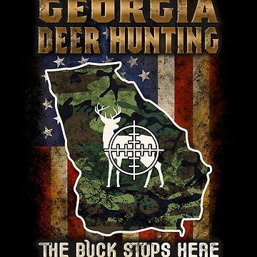 Georgia Deer Hunter American Flag Deer Hunting Gifts American Hunting Apparel by vince58