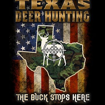 Texas Deer Hunter American Flag Deer Hunting Gifts American Hunting Apparel by vince58