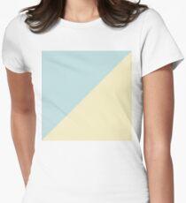 Simple pastel triangles Tailliertes T-Shirt für Frauen