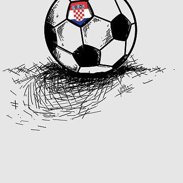 Croatia Soccer Ball Flag Jersey Art - Croatian Football by NBRetail