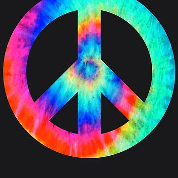 Cool Peace Sign Tie Dye Design For Boys And Girls by NBRetail