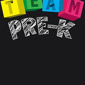 Team Pre-K Art | Cute I Love Kindergarten Design Gift by NBRetail