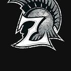 ZHS: Z Trojan Head Logo by WezApparel