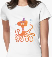 Otto the Octopus Women's Fitted T-Shirt