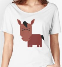 brown horse Women's Relaxed Fit T-Shirt