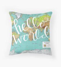 Hello World Throw Pillow