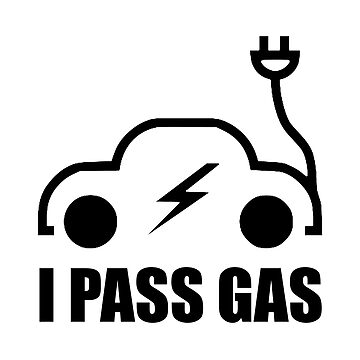 Electric Vehicle Driver Pass On Gas Funny by TheBestStore