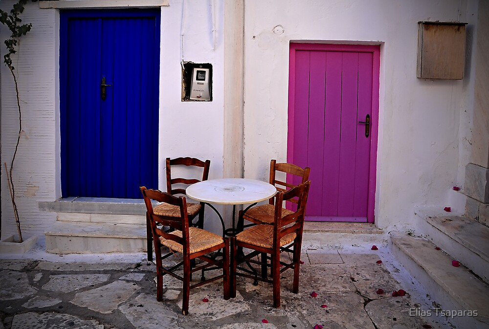 Greek City Scene 004 by Elias Tsaparas