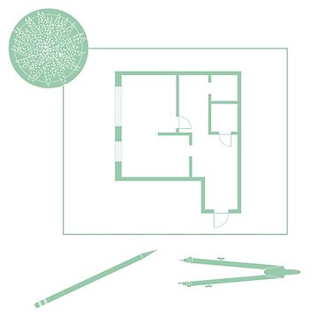 Vector illustration with apartment plan. by aquamarine-p