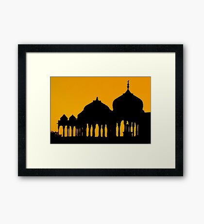 Silhouettes of Cenotaphs Framed Print