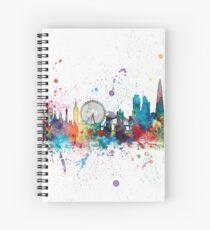 Cuaderno de espiral Skyline de Londres Inglaterra