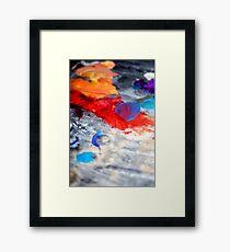 Paint Markings Framed Print
