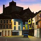 Romsey Market Square at Dusk by Richard Paul