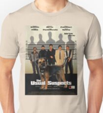 Border Terrier Art - The Usual Suspects Movie Poster Unisex T-Shirt
