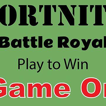 Fortnite Play To Win Shirt - Game On Shirt - Fortnite tshirt - Fortnite Game tee - Fortnite Winner by happygiftideas
