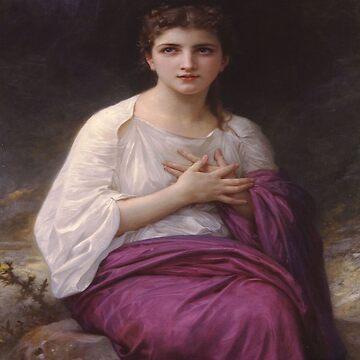Psyche-William Adolphe Bouguereau by LexBauer