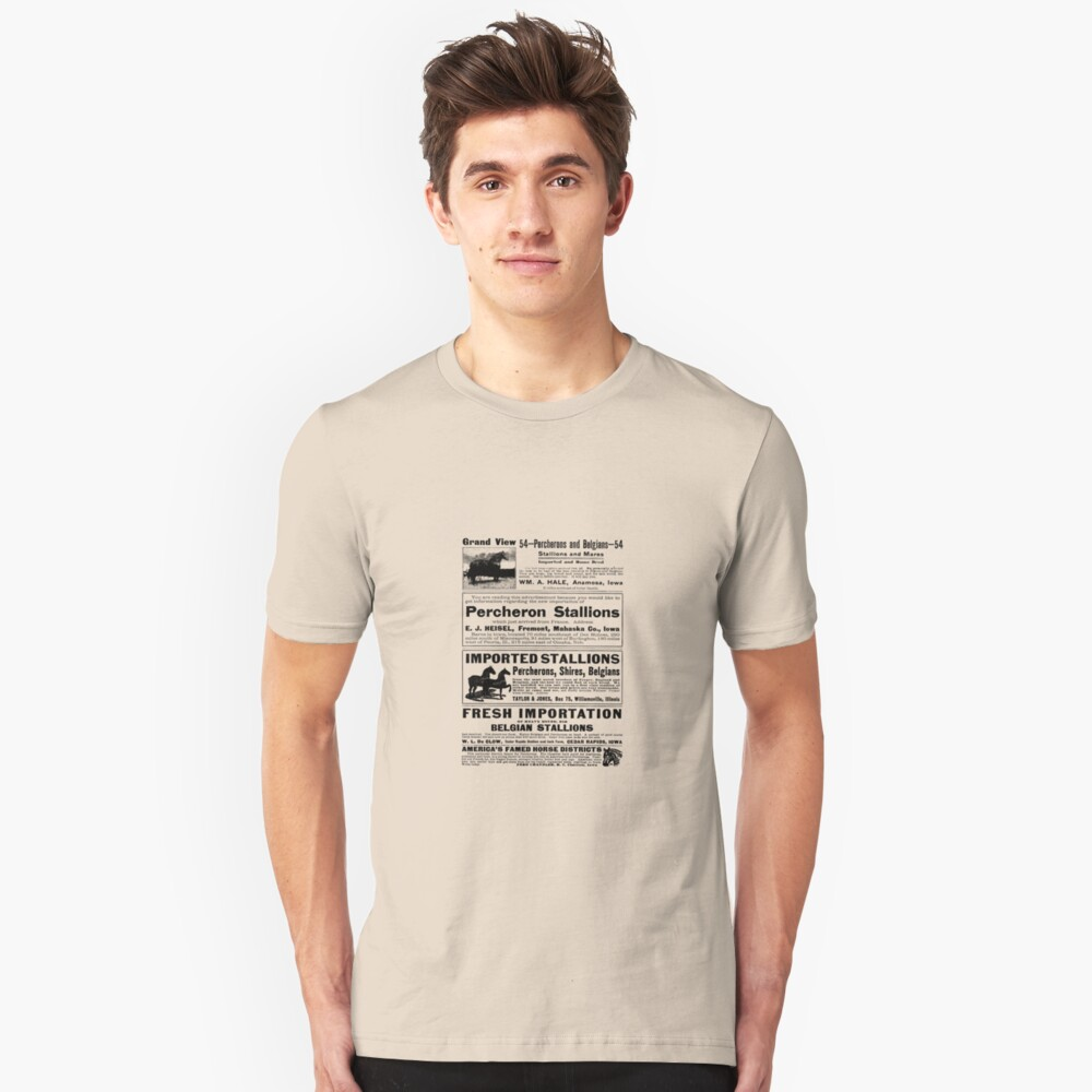 Horse Ads From 1913 Unisex T-Shirt Front