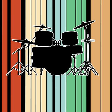 Drum Kit Funny Design - Id Rather Be  by kudostees