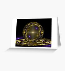 Blue Saphire and Gold Inay Greeting Card