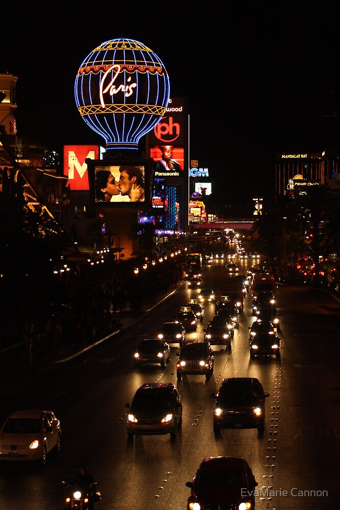 Las Vegas...At Night.... by EvaMarie Cannon